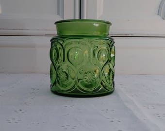 Vintage LE Smith Moon & Stars Green Canister Bottom (NO LID) 1960's - 70's