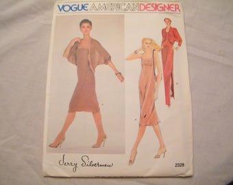 Vogue 2328 UNCUT American Designer Pattern Jerry Silverman size 14, Vintage DIY sewing to make jacket and dress