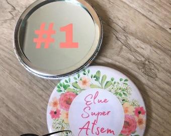 Pocket mirror, year end gift home school