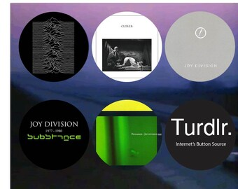 Joy Division Album Covers 2-1/4 in Pinback Buttons