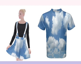 Cloudy Sky Skater Skirt or T-Shirt (Made to Order)