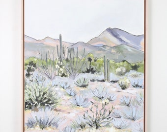 Living Desert,Original Painting,Acrylic,Mixed media,Joshua Tree,Arizona,Bohemian,Boho decor,decor,desert art, cactus,cacti,california
