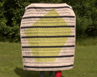 ONE-OFF hand quilted blanket/wall hanging
