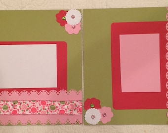 Flowers and Polka Dots layout