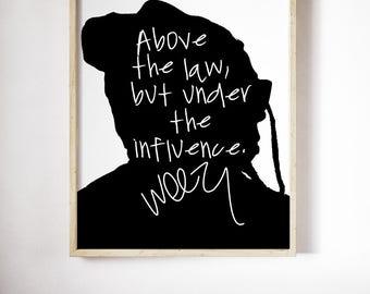 "Lil Wayne ""Above The Law"" Art Print"