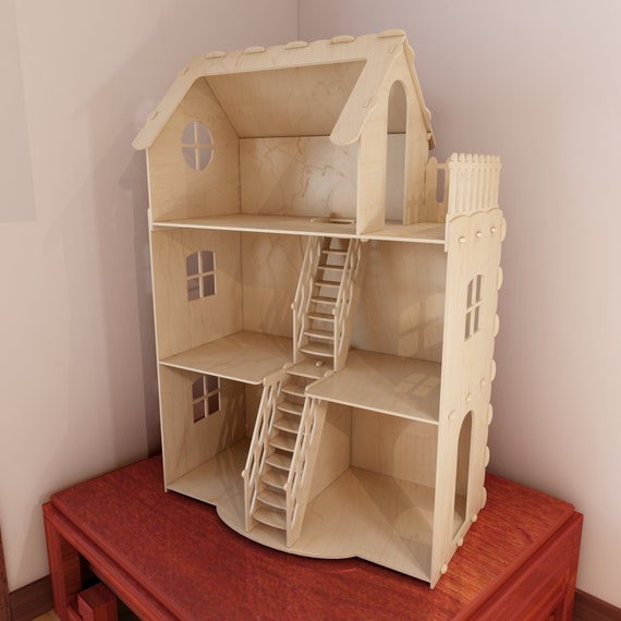 Dollhouse V3. Big Plywood Doll House For Barbie. 1:6 Scale Vector Model For  CNC Router And Laser Cutting. Barbie Size Dollhouse. From DxfProjects On  Etsy ...