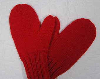 Custom solid coloured mittens - toddler to adult sizes