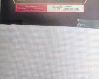 Canvas pink Aida DMC Pinstripe
