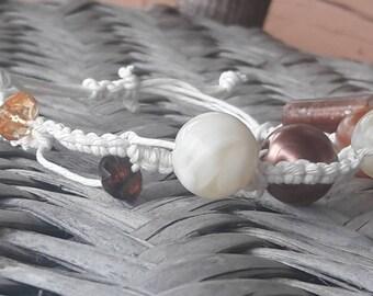 Macrame hemp bracelet with beads