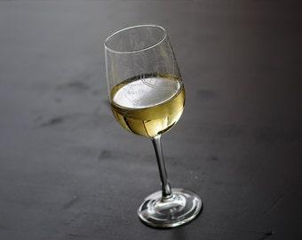 Austin Map Wine Glass