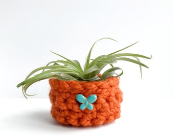 Air Plant Holder - Woven Plant Basket - Plant Pots - Gifts Under 10
