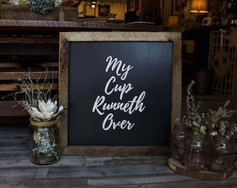 Psalm 23 - Small Handcrafted Quote Sign