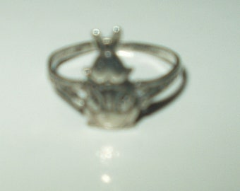 Vintage Sterling Silver Bunny Peter Rabbit Ring