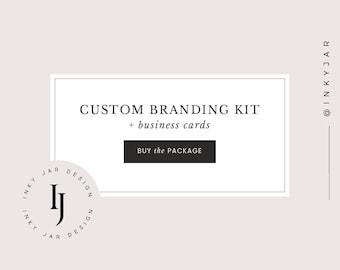 Custom branding kit design + business cards - for your business only - branding, business logo, custom business logo design,photography logo