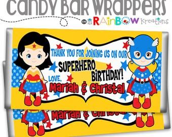 CBW-778: DIY - Super Hero 23 Candy Bar Wrapper