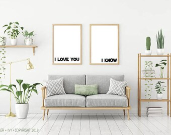 """STAR WARS I Love You - I Know - 16""""x23"""" Size 