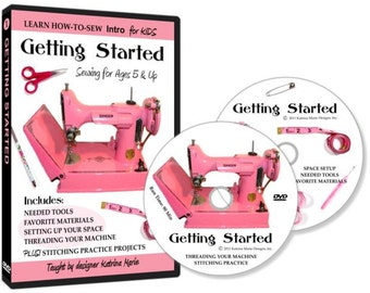 Learn How to Sew for Kids with Getting Started Sewing DVD (an Introduction to Sewing for Beginners ages 5 and up)