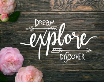 Dream Explore Discover Arrows Boho Vinyl Decal