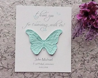 25 Seeded First Holy Communion Cards - thank you for celebrating with us!