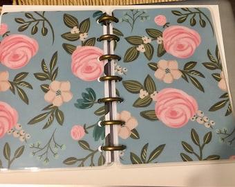 Mini Happy Planner Cover Set-Blue Floral