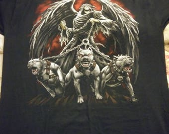Brand new triple protection with the angle of death t shirt.