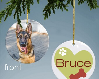 Personalized Dog Photo Ornament
