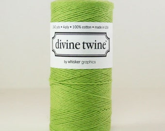 1 Spool Solid Spring Green Divine Twine, Bakers Twine, 240 yards / 219 m.
