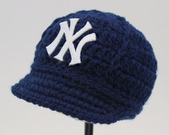 Yankees bébé Chapeau , Casquette , New York Yankees , cadeau bébé /  nouveau,né , Baseball Photo Prop , MLB , tricot / Crochet