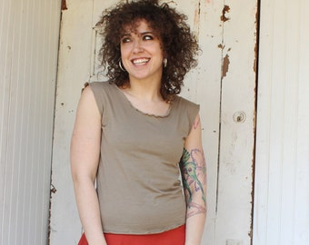 Simple Organic Tank Top - Many Colors Available - Organic Cotton Blend