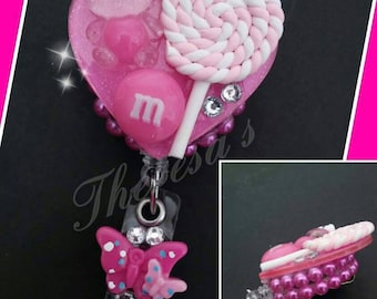 Pink Candy Id Badge Reel