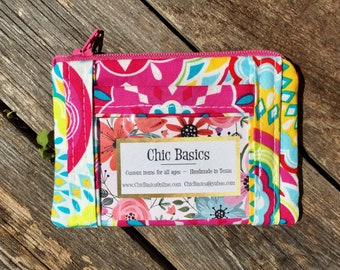 Ready to Ship!  Chic ID Wallet - Zippered Coin Purse