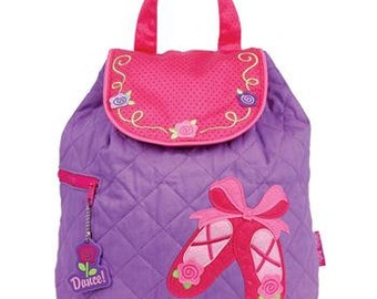 Personalized Stephen Joseph Quilted Ballet Backpack, Diaper Bag, Toddler Backpack, Overnight Bag with FREE Embroidery