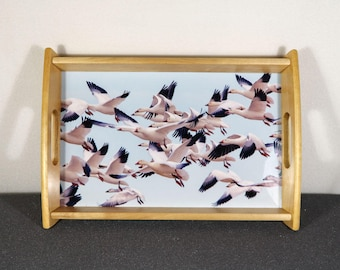Serving Tray, Snow Geese on the wing. 10x14 size