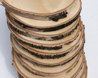 Wedding decoration etsy 10 pcs large slices rustic slices rustic wood slices for diy birch tree birch wooden discs wedding decoration weddings junglespirit Choice Image
