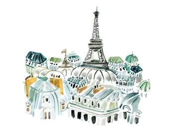 Art Print Wall Art: Paris My Sweet {cute paris art print, cute wall art, pink wall art, parisian art print}