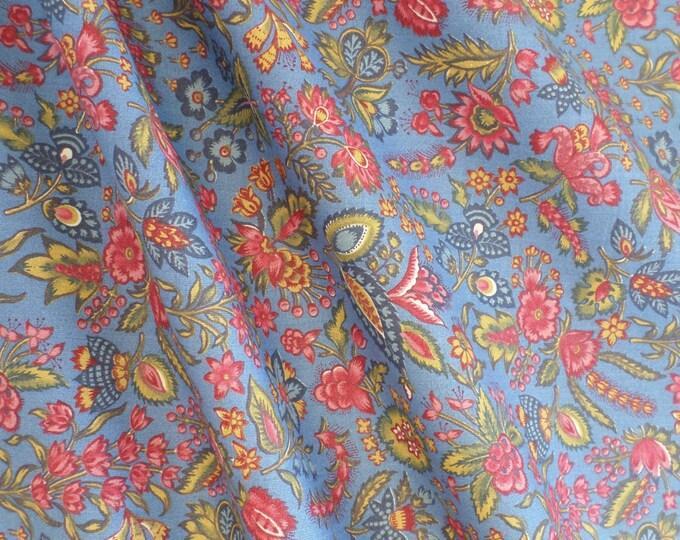 Dutch Chintz - Les Petits Bouquets CLEAR BLUE 1/2 yd