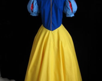 New Adult Snow White Dress Gown Costume