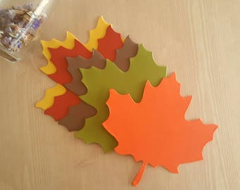 Maple leaf die cuts (J )Pick your color,Large leaf die cuts Leaf Tags Autumn decor Gold leaf diecuts,Fall wedding decor,Leaf gift tags,leaf