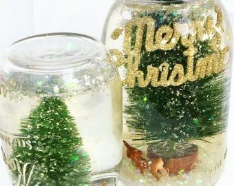 Mason Jar Snow-globes
