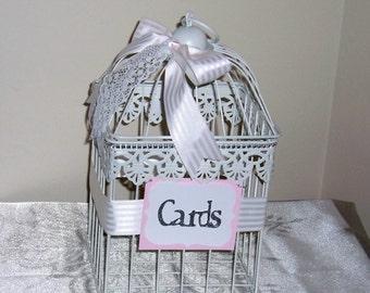 White Bird Cage, Wedding Bird Cage Cardbox, Bird Cage Centerpiece, Wedding Party Decoration, Wedding, Bird Cage