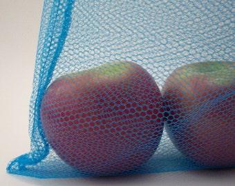 Reusable Produce Bags - Eco Friendly Nylon Mesh Shopping Bags - Earth Friendly Farmers Market Bag - Kitchen Supplies - Set of 2 Mesh  Bags