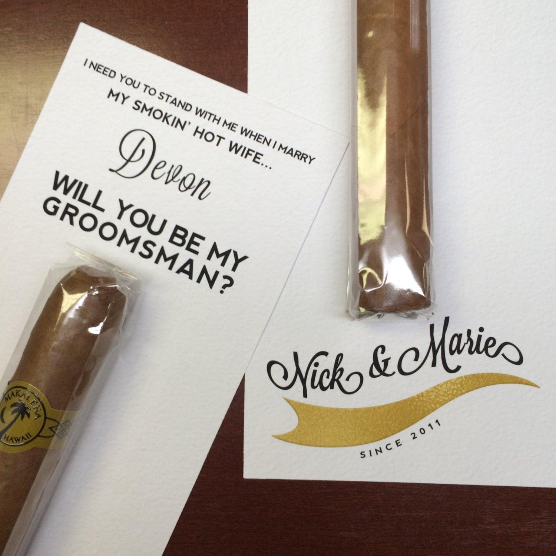 Will You Be My Groomsman Cigar Label / Custom Cigar Groomsmen