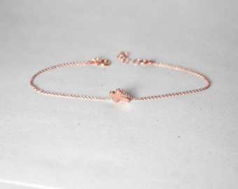Rose Gold Cross Bracelet,Rose Gold Cross Jewelry,First Communion.Tiny,Small ,Little Cross Pendant,Confirmation Jewelry,Baptism ,Christianing