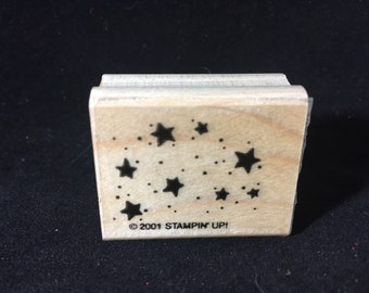 Stars Rubber Stamp Used  View All Photos