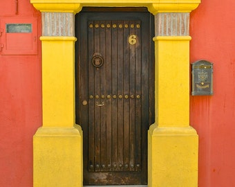 Spanish Door, Old Marbella, Andalusia-Fine Art Photo Blank Greeting Card--Suitable for Framing-Copyright Protected