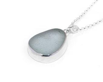 Sea Glass Necklace   Real Seaglass Jewelry   Handmade 925 Silver Beach Glass Necklace   Sea Glass Pendant   Unique Seaham Sea Glass Jewelry
