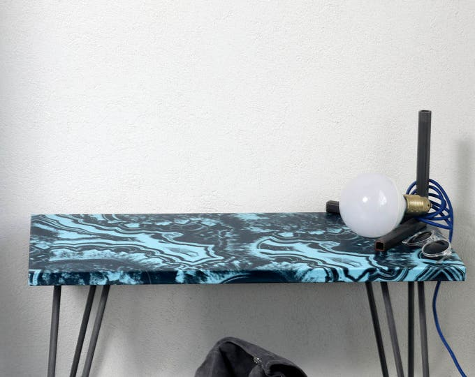 Malachite, Table, Desk, Dining Table, Kitchen Table, Farmhouse Table, Coffee Table, Side Table, Rustic Coffee Table, Rustic, blue Table,