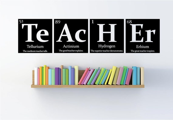 teacher gift periodic table of elements teacher - Periodic Table Of Elements Gifts