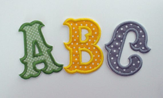 letter applique iron on iron on letters embroidered patch 4 inch letter fabric 8204