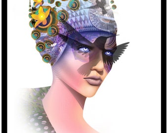 Goddess Isis Art Print by Jason Mccreadie 2015